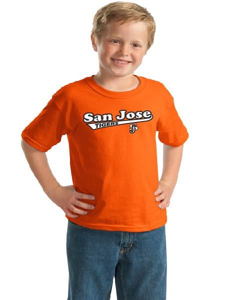 San Jose Tigers orange youth t-shirt
