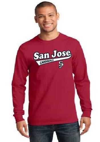 San Jose Cardinals men's longsleeve  t-shirt