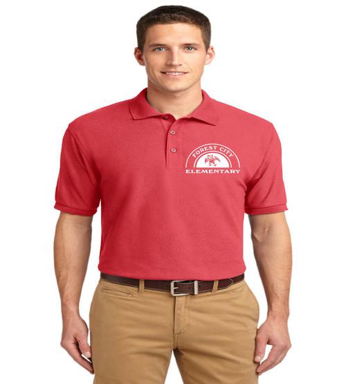 Forest City men's basic polo