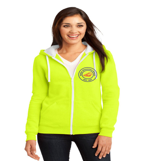 Sadler ladies zip up hoodied sweatshirt