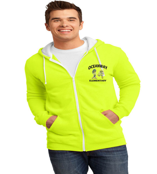 Oceanway men's zip-up hooded sweatshirt