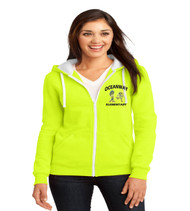 Oceanway ladies zip-up hooded sweatshirt