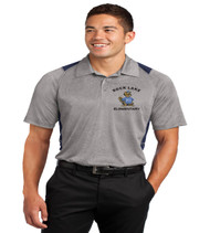 Rock Lake men's color block dri fit polo