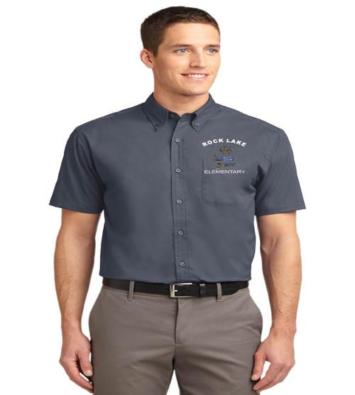 Rock Lake men's short sleeve button up