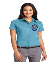 Wayerbridge ladies short sleeve button up