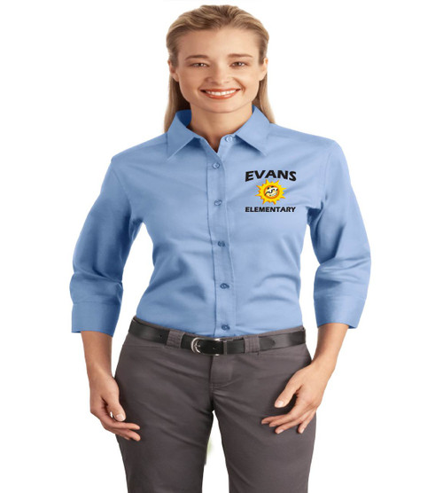 Evans ladies 3/4 sleeve button up