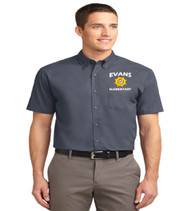 Evans men's short sleeve button up