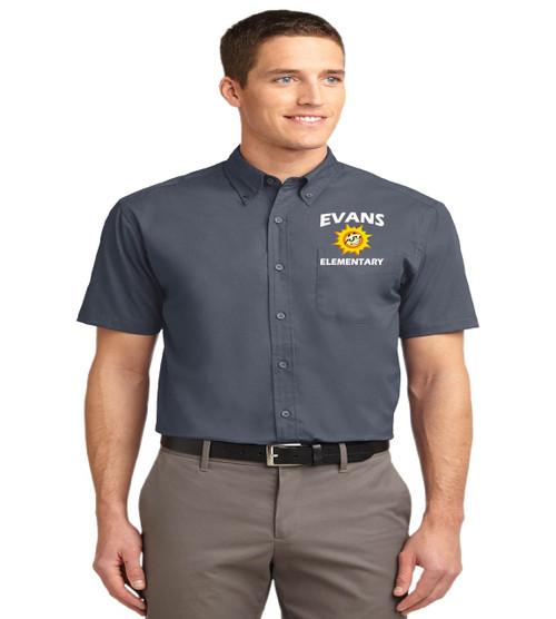 Evans men's short sleeve button up