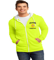 Evans men's zip up hoodie