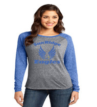 Discrict raglan longsleeve heather royal