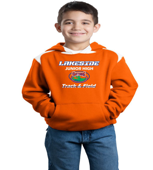 lakeside track youth color block hood