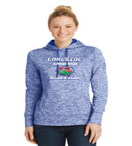 Lakeside track ladies poly hoodie