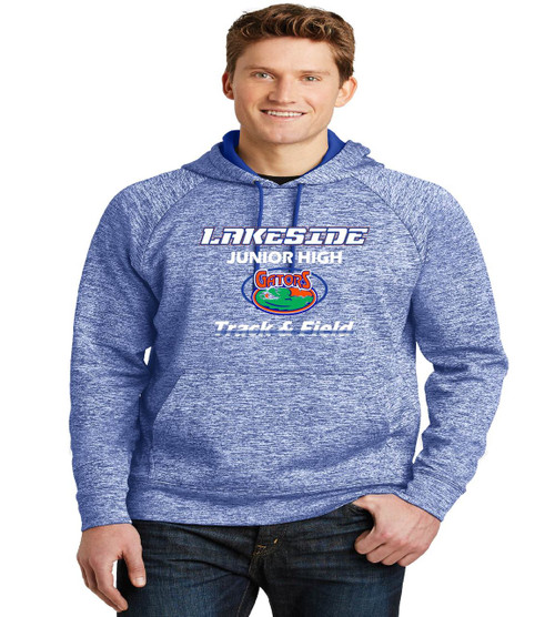lakeside track mens poly hoodie