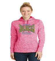 ucaa football ladies poly hoodie