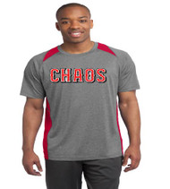 Chaos Baseball Heather Color Block Tee