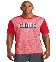 Chaos Baseball Electric Heather Color Block Tee