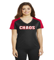 Chaos Baseball Ladies Competitor Sleeve Blocked Dri-Fit Shirt