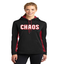 Chaos Baseball Ladies Color Block Polyester Hoodie