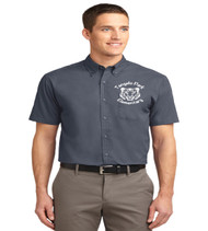 tangelo park mens short sleeve button up