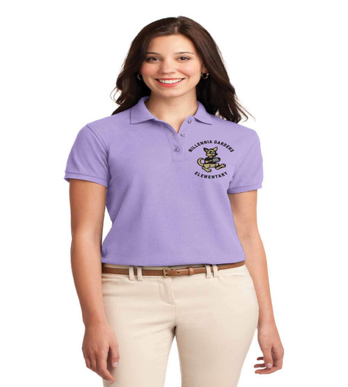 millennia gardens ladies basic polo