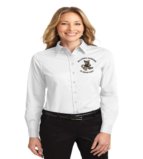 millennia gardens ladies long sleeve button up