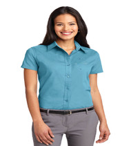 Durbin Creek Ladies Short Sleeve Button-up