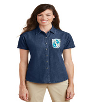Southwest Ladies Short Sleeve Denim Button-up