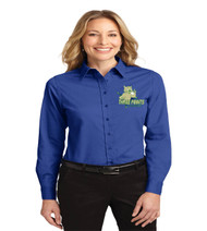 Three Points Ladies Long Sleeve Button-up