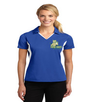 Three Points Ladies Color Block Polo