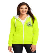 Three Points Ladies Zip-Up Hooded Sweatshirt