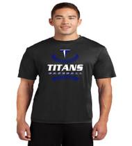 Titans Baseball Men's Black Dri-fit T-Shirt