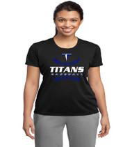 Titans Baseball Ladies Black Dri-fit T-Shirt