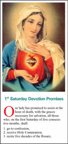 1st Saturday Immaculate Heart Devotion - English - Pack of 25 Holy Cards