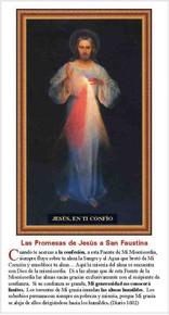 Las Promesas de Jesús a San Faustina - Paquete de 25 Tarietas - Spanish