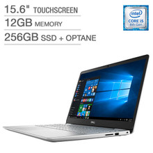 "Dell Inspiron 15 Laptop: Core i5-8265U, 12GB RAM, 256GB SSD+16GB Optane, 15.6"" Full HD Touch Display"