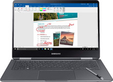 "Samsung Notebook 9 Pro 2-in-1 Laptop: Core i7-8550U, 16GB RAM, 256GB SSD, Radeon 540 Graphics, 15"" Full HD Display"