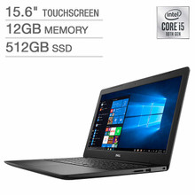"""Dell Inspiron 15 Laptop: 10th Gen Core i5-1035G1, 512GB SSD, 12GB RAM, 15.6"""" Full HD Touch Display"""