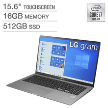 "LG Gram 15 Ultrabook: 10th Gen Core i7-1065G7, 16GB RAM, 512GB SSD, 15.6"" Full HD Touch Display"