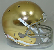 Notre Dame Fighting Irish Special TEXTURED GOLD CHROME Schutt Full Size Replica Helmet