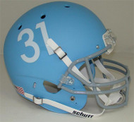 Kansas Jayhawks Alternate Matte Columbia Blue Schutt Full Size Replica XP Football Helmet