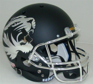 Missouri Tigers Alternate CHROME Matte Black Schutt Full Size Replica Helmet
