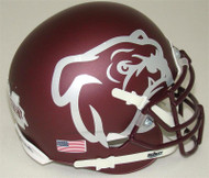 Mississippi State Bulldogs Alternate Red Bulldog Schutt Mini Authentic Helmet