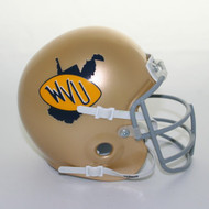 West Virginia 1974-78 Schutt Throwback Mini Authentic Helmet