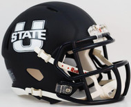 Utah State Aggies Alternate Navy Revolution NCAA SPEED Mini Helmet