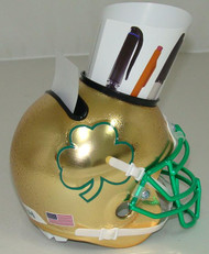 Notre Dame Fighting Irish Textured Gold with Shamrock Mini Helmet Desk Caddy by Schutt