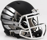 Oregon Ducks LiquidMetal Speed Mini Football Helmet Liquid Lightning HydroSkin Black