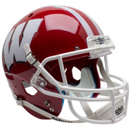 Wisconsin Badgers Alternate RED with WHITE Schutt Full Size Replica XP Football Helmet