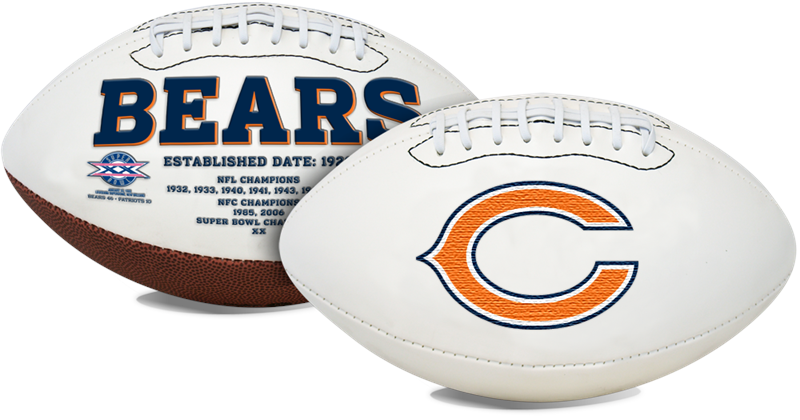 Signature Series Nfl Chicago Bears Autograph Full Size Football