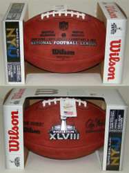 Super Bowl XLVIII (Forty-Eight 48) Seattle Seahawks vs. Denver Broncos Official Leather Authentic Game Football by Wilson