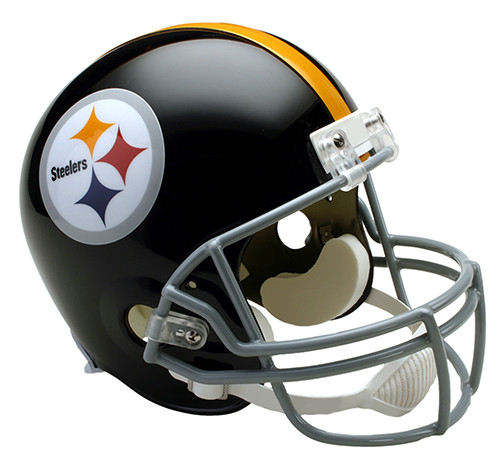 100% authentic a4759 34c77 Pittsburgh Steelers Throwback 1963-76 Riddell Full Size Replica Helmet